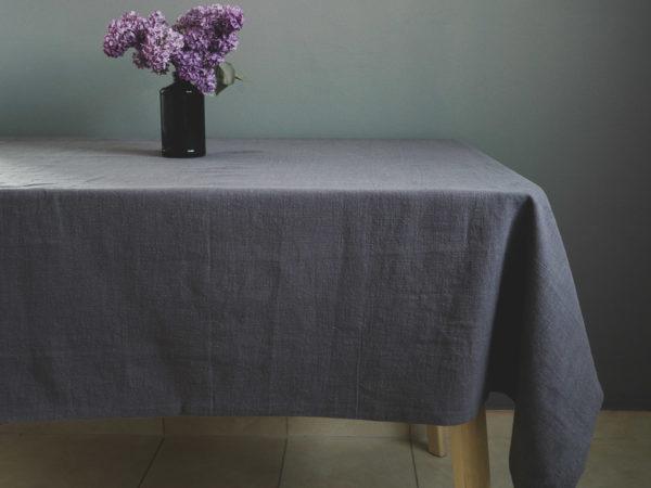 Stolnjak od lana sive boje