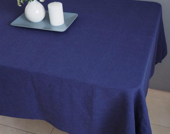 Stolnjak od lana plave boje