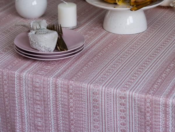 Etno stolnjak roza