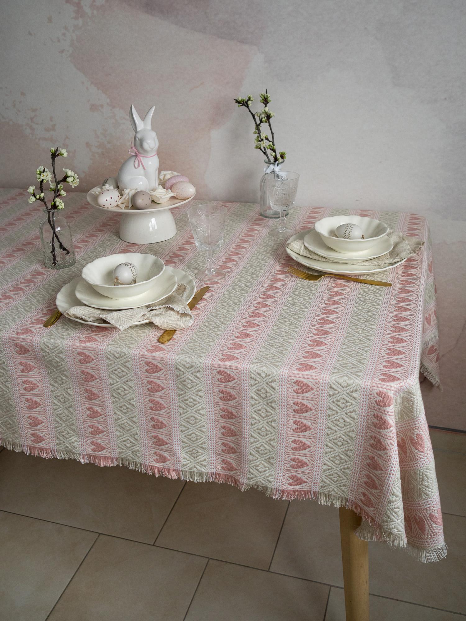 Etno 1 stolnjak, rozo-bež