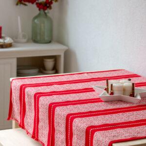 Stolnjak 3 Crveno-bijelo